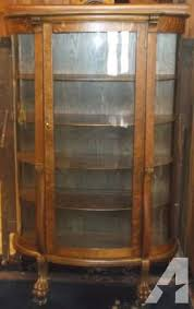 antique china cabinets for sale amazing antique oak curved glass china cabinet for sale in atlantic