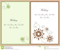 Free Editable Wedding Invitation Cards Set Wedding Invitation Card 4 Stock Photo Image 12935660