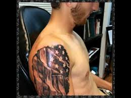 guy gets 3d american flag tattoo rip out by shadow youtube