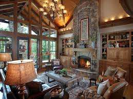 rustic great room with built in bookshelf by joe folsom zillow