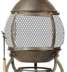 amazon com deckmate corona outdoor chimenea fireplace model