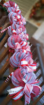 Brylane Home Christmas Decorations Candy Cane Christmas Garland Mantle Decor Christmas Decorations