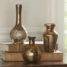 Footed Glass Vase Mercury Glass Vase Wayfair