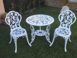 stunning white outdoor bistro set 13 best garden ideas images on