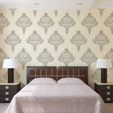 wall damask stencil balifico for diy wall decor and wallpaper look
