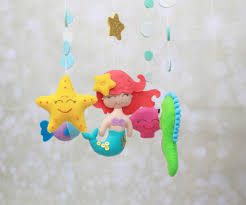 Deer Mobile For Crib Mermaid Mobile Baby Mobile Crib Mobile Under The Sea Mermaid