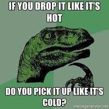 Drop It Meme - if you drop it like it s hot do you pick it up like it s cold