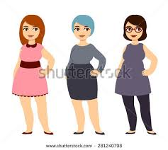 plus size fashion young pretty cartoon stock vector 281240798