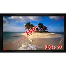 projection screens amazon com amazon com antra 16 9 fixed projector projection screen pvc