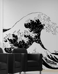 vinyl wall decal sticker japanese great wave hokusai 363