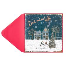 dad u0026 his wife christmas card