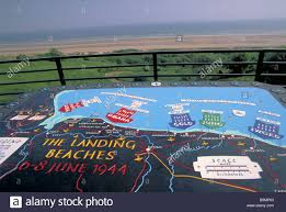 Normandy Invasion Map Landing Beach Map And Omaha Beach At The Normandy American