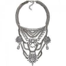 boho statement necklace images Falkor aztec western tiered silver boho edgy statement necklace jpg