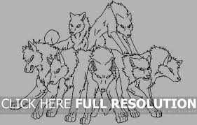 26 Images Of Template Pack Of 8 Wolf Paintbullet Net Wolf Pack Coloring Pages