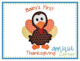applique corner baby thanksgiving applique design