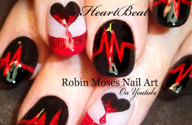robin moses nail art anti vaentine u0027s day nail art design ideas