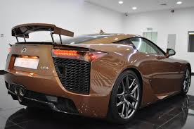 lexus lfa new price what would you say to a brown lexus lfa for 645k