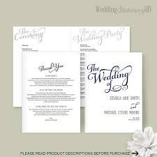print at home wedding programs wedding programs wedding program template diy wedding templates
