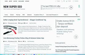 download template seo friendly 10 best simple blogger template