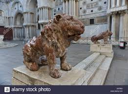 lions statues small lions statues by st s basilica st s square venice