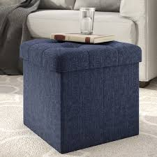 Tufted Storage Ottoman Ottomans U0026 Poufs Wayfair