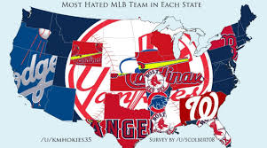 Nba Divisions Map Map Shows Each State U0027s Most Hated Mlb Team Si Com