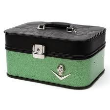 Vanity Makeup Box Lux De Ville Elvira Vanity Makeup Case Black Matte Green Envy