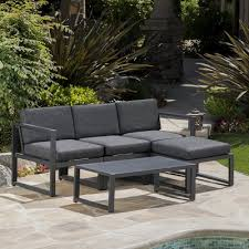 Outdoor Sofa Sectional Set Orren Ellis Denisse Outdoor 5 Piece Sectional Set With Cushions