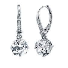 cubic zirconia earrings sterling silver cubic zirconia cz leverback dangle earrings e788