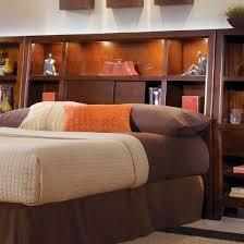 bedroom sauder bookcase headboard platform bed with bookcase