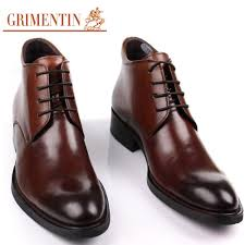 men boots genuine leather ankle autumn winter black brown luxury