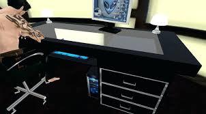 Glass Top Computer Desks For Home Glass Desk For Computer U2013 Plfixtures Info