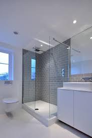 Subway Tile Backsplash Bathroom - gray subway tile backsplash bathroom contemporary with marble glass