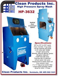 heated parts washer cabinet clean products hp 3632 high pressure spray cabinet specifications
