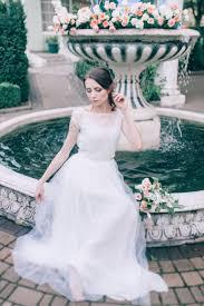 wedding lace dress air flowers unique wedding gown bridal