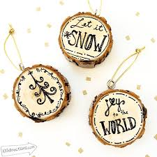 design your own pen and ink wood slice ornaments burnt wood