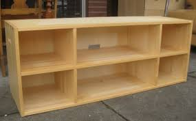 Long Low Bookshelf Incredible Long Light Brown Lacquered Oak Wood Low Bookcase Which