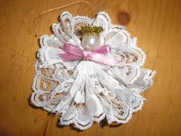 how to craft lace designs lace angel ornament craft class