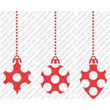 polka dot ornament decals set of 3
