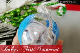 baby s ornament idea footprints hospital band