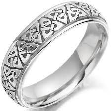 Irish Wedding Rings by Irish Wedding Ring Mens Gold Trinity Knot Celtic Wedding Band