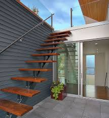 space saving staircase design contemporary floating stairs