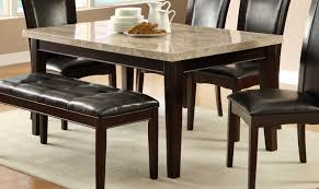 Marble Top Dining Room Table Sets Homelegance Hahn Dining Table Ivory Marble Top Brown With