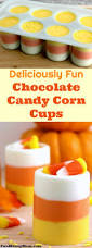 deliciously fun chocolate candy corn cups halloween desserts