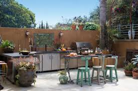 kitchen charming outdoor kitchen design and decoration using
