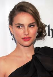 pictures of natalie portman sophisticated side bun updo