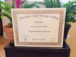 steamy vaginal steam home kit herbs certification