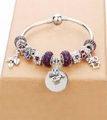 custom charm custom charm graduation bracelet with birthstone choice of year