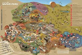 San Diego California Map by Park Map San Diego Zoo Safari Park