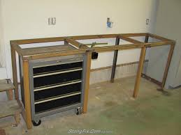 Workbench Designs For Garage My Steel Workbench Build Stangfix Com